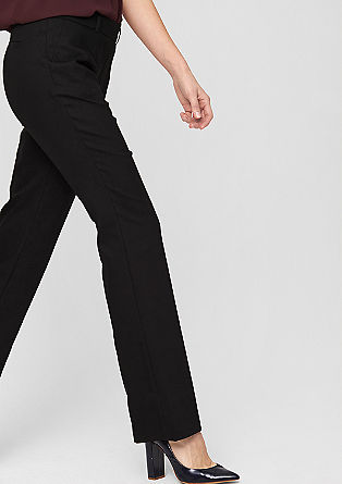 Regular: stretch business trousers from s.Oliver