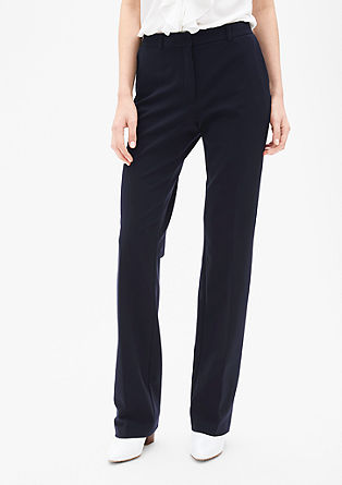 Regular: stretch trousers with a wide leg from s.Oliver