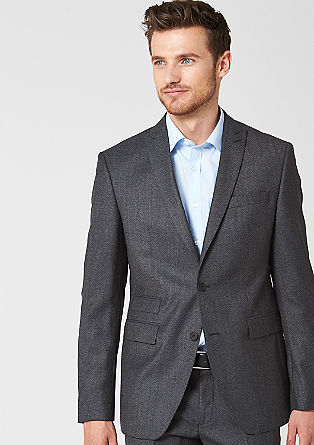 Regular: tailored jacket in a new wool blend from s.Oliver