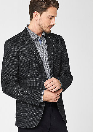 Regular: Tailored jacket with a percentage of wool from s.Oliver