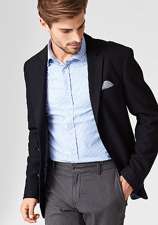 Regular: tailored jacket with a woven texture from s.Oliver