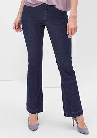 Regular: temne jeans hlače na zvon