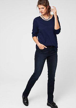 Regular: Temne raztegljive jeans hlače