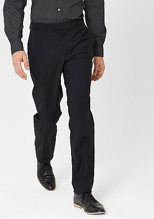 Regular: twill trousers in new wool from s.Oliver