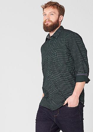 Regular: vzorčasta bombažna srajca
