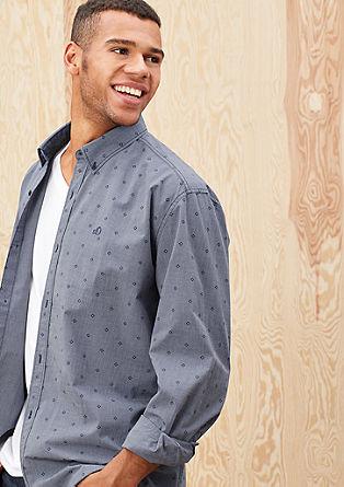 Regular: vzorčasta srajca z dolgimi rokavi