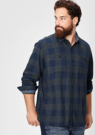 Regular: warm check shirt from s.Oliver