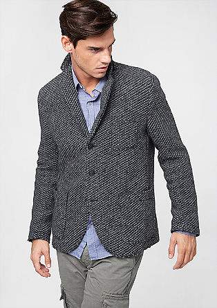 Regular: wool blend jacket from s.Oliver
