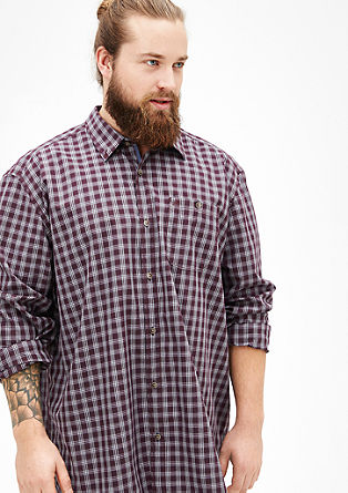 Regular check shirt from s.Oliver