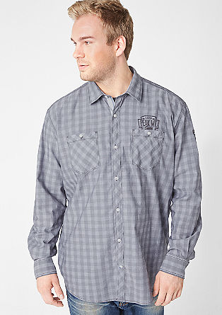Regular embroidered check shirt from s.Oliver