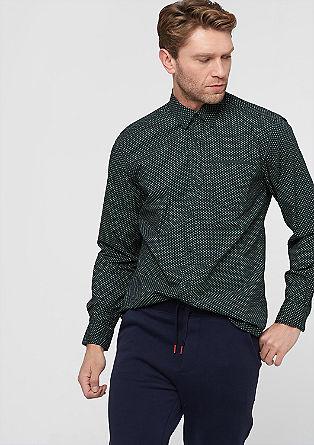 Regular:Hemd mit Muster-Print