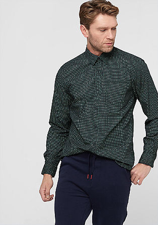 Regular shirt with a printed pattern from s.Oliver