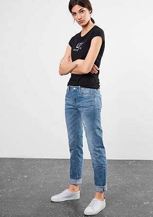 Relaxed: light distressed jeans from s.Oliver