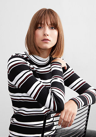 Retro knit jumper in a slim fit from s.Oliver