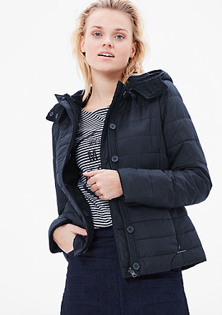 Reversible jacket with one knitted and one quilted side from s.Oliver