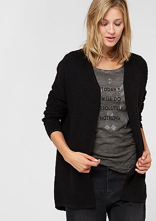 Rib knit cardigan from s.Oliver