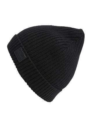 Rib knit cotton hat from s.Oliver