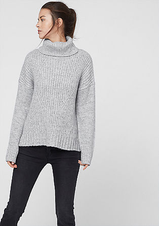 Rib knit polo neck jumper from s.Oliver