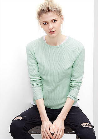 Ribbed fine knit jumper from s.Oliver