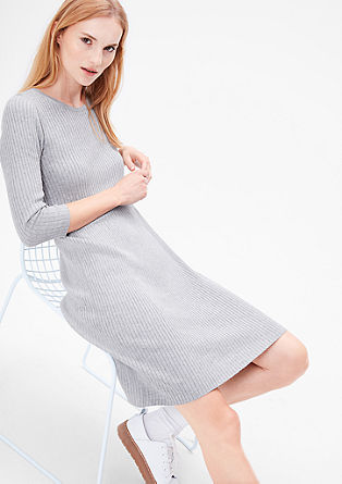 Ribbed knit dress in a viscose blend from s.Oliver