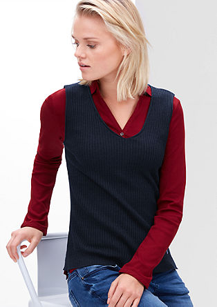 Ribbed knit vest top from s.Oliver