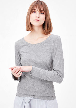 Ribbed long sleeve T-shirt from s.Oliver