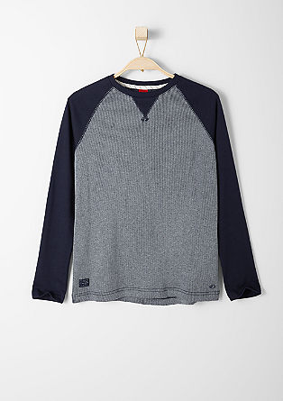 Ribbed raglan top from s.Oliver