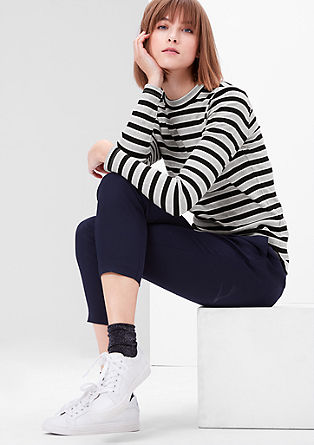 Ribbed top with stripes from s.Oliver