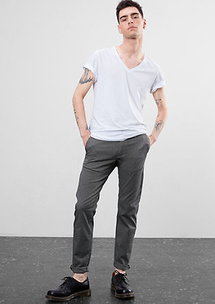 Rick Slim: chinos with a woven texture from s.Oliver