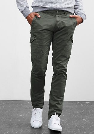 Rick Slim: Garment-dyed cargo trousers from s.Oliver