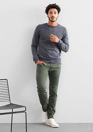 Rick slim: Garment washed dye jeans