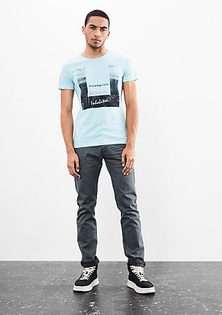 Rick slim: Jeans met donkere naden