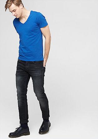 Rick slim: jeans met een used look
