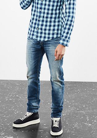 Rick slim: jeans met slijtageplekken