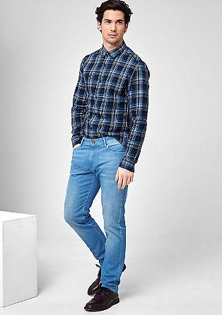 Rick slim: lichte jeans met een used look