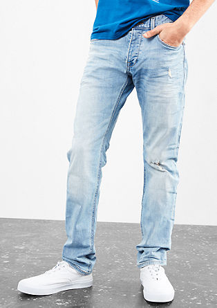 Rick slim: lichte jeans met een vintage-look