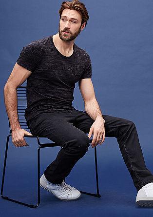 Rick slim: slim fit jeans met een used look