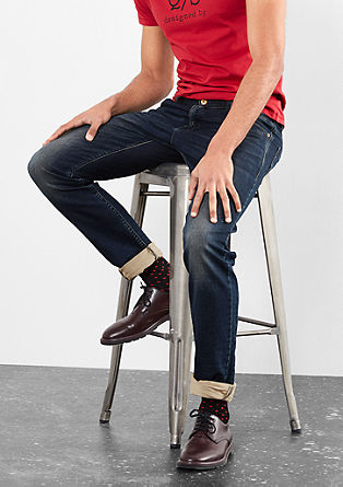 Rick Slim: temne jeans hlače v obrabljenem videzu