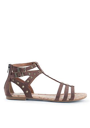 Riemchen-Sandalen mit Nieten