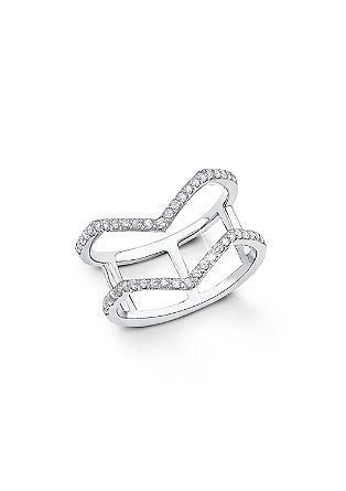 Ring met geometrisch design
