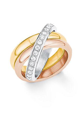 Ring van tricolour edelstaal