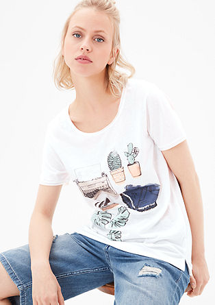 Rippshirt mit Illustration