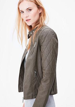 Rocková bunda se vzhledem kůže