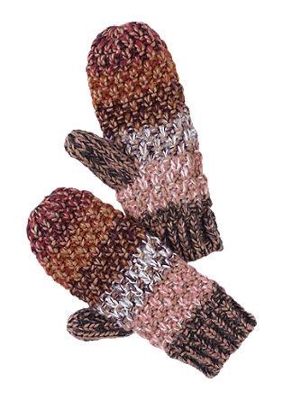 Rokavice na palec iz pletenine s teksturo