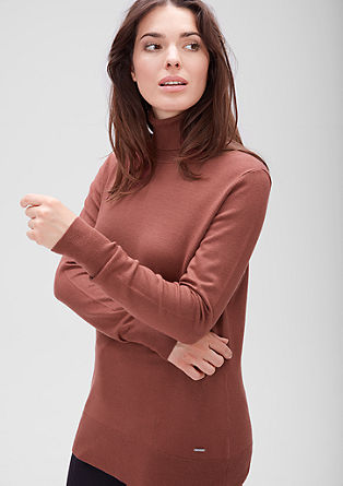 Roll neck jumper with ribbed waistband from s.Oliver