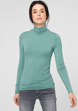 Rollkragen-Shirt aus Jersey