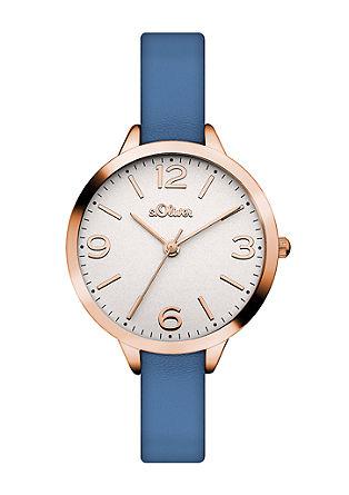 Rosé-Uhr mit Wechselbändern