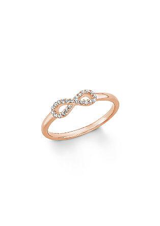Rosévergoldeter Ring mit Zirkonias