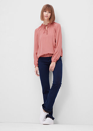 Ruched blouse with elasticated waistband from s.Oliver
