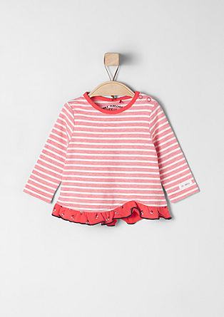 Ruched striped top from s.Oliver